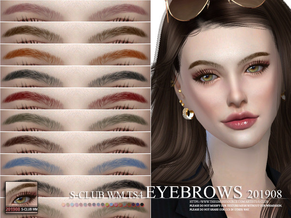 Sims 4 Eyebrows 201908 by S Club WM at TSR