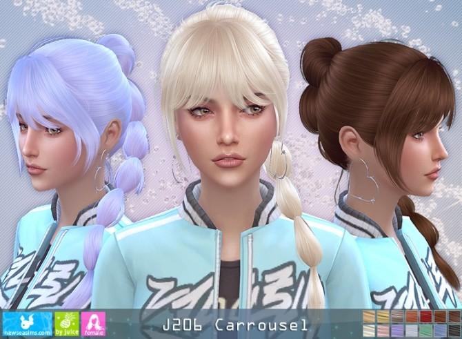 Sims 4 J206 Carrousel hair (P) at Newsea Sims 4