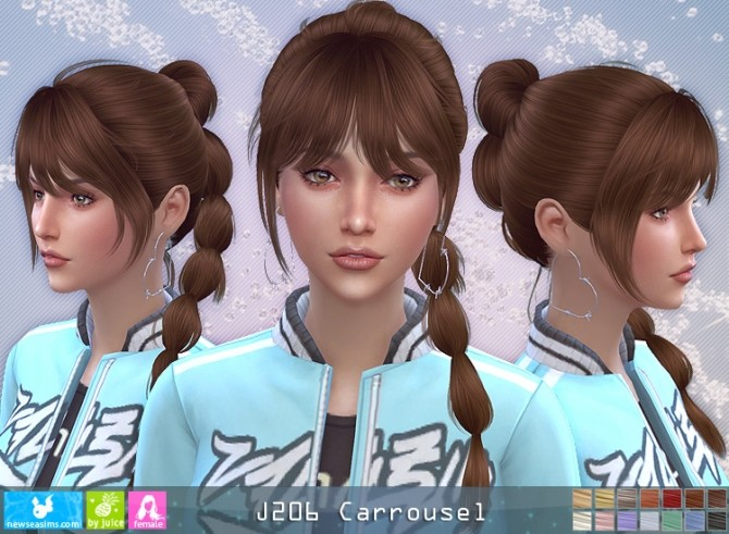 J206 Carrousel hair (P) at Newsea Sims 4 image 267 670x491 Sims 4 Updates