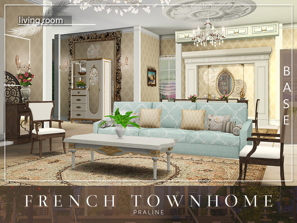 Sims 4 French Townhome by Pralinesims at TSR
