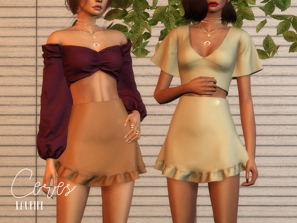 Ceres skirt by laupipi at TSR image 2724 Sims 4 Updates
