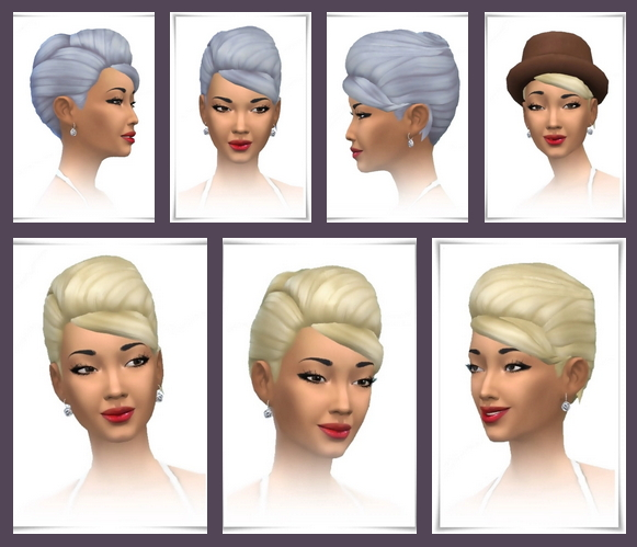 Sims 4 Up Do Twist Side Bangs at Birksches Sims Blog