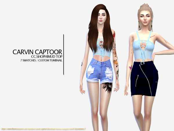 Sims 4 Shophimud Top by carvin captoor at TSR