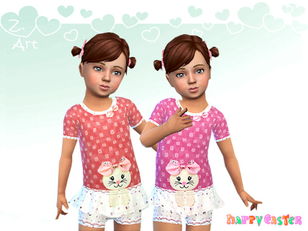 Sims 4 BabeZ 61 outfit for little ballerinas by Zuckerschnute20 at TSR