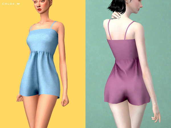 Sims 4 Jumpsuit by ChloeM at TSR