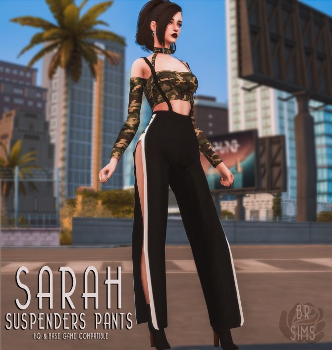Sarah Suspenders Pants by Liseth Barquero at BlueRose Sims image 284 670x706 Sims 4 Updates