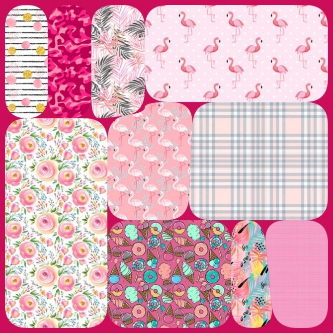 Sims 4 Collection 70 Pink Pattern Part 2 at Annett's Sims 4 Welt