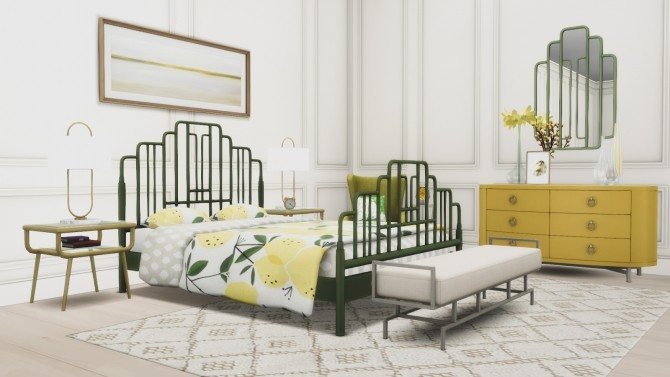 Ophelia Bedroom Suite at Simsational Designs image 2861 670x377 Sims 4 Updates