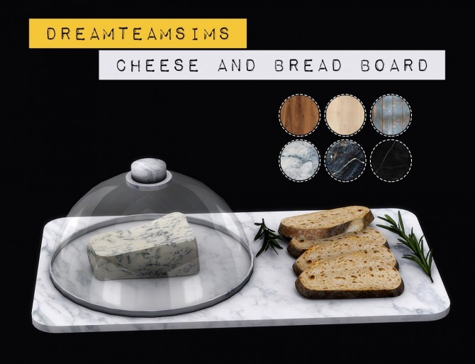 Sims 4 Cheese and Bread Board at Dream Team Sims