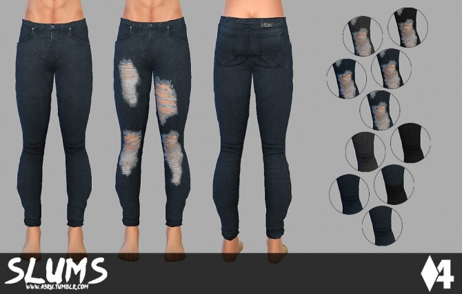 Starter Skinny Jeans for AM at A3RU image 289 670x426 Sims 4 Updates