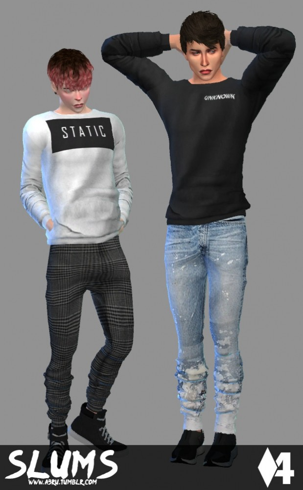 Basic Cotton Pullover for AM at A3RU image 290 619x1000 Sims 4 Updates