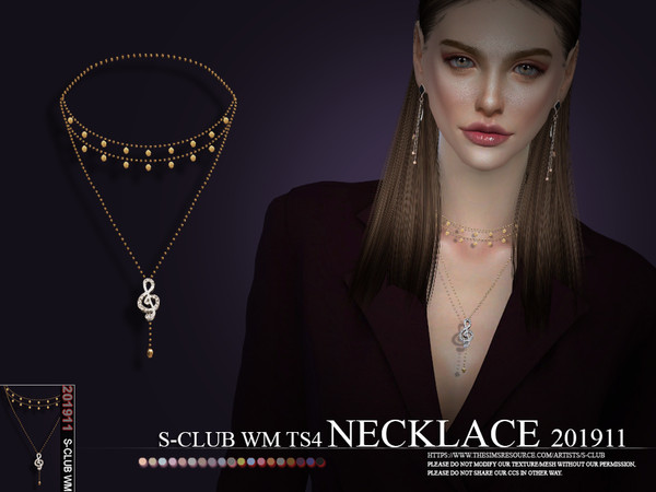 Sims 4 Necklace 201911 by S Club WM at TSR