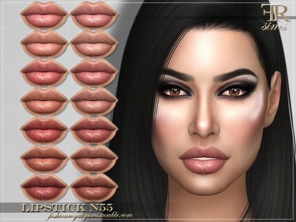 Sims 4 FRS Lipstick N55 by FashionRoyaltySims at TSR