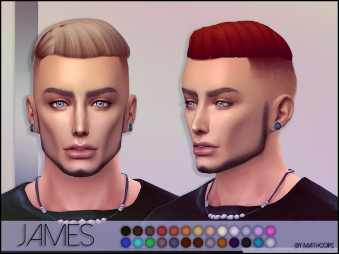 Sims 4 James hair by Mathcope at Sims 4 Studio