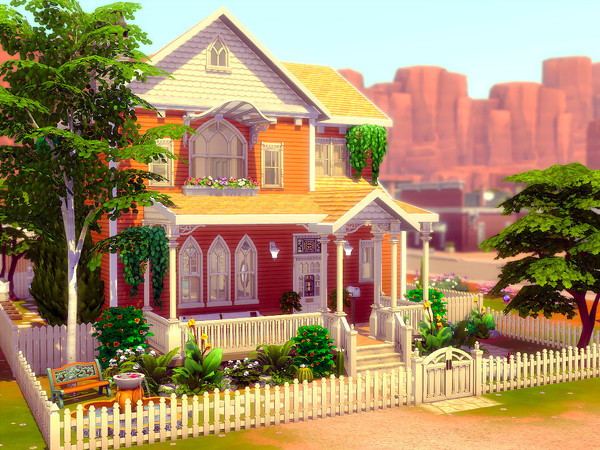 The Orange Tree house by sharon337 at TSR image 298 Sims 4 Updates