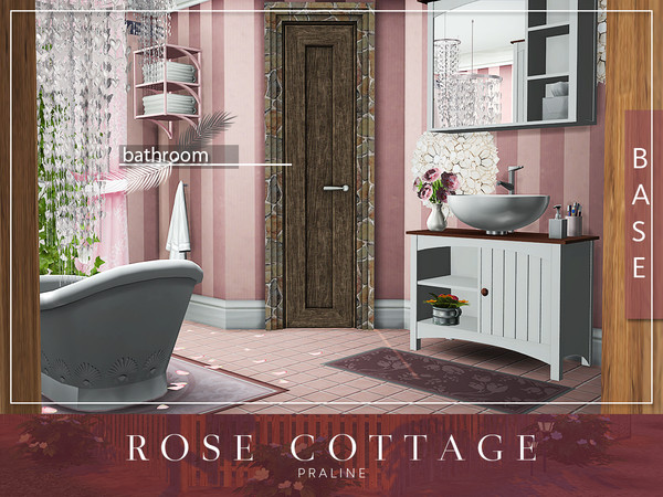 Sims 4 Rose Cottage by Pralinesims at TSR