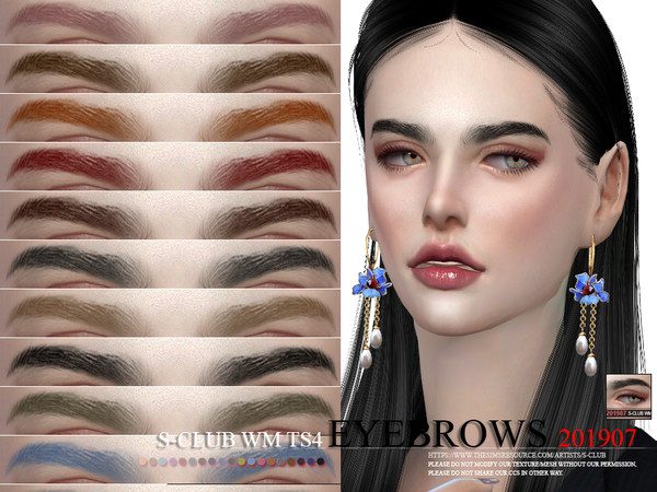 Eyebrows 201907 by S Club WM at TSR image 302 Sims 4 Updates