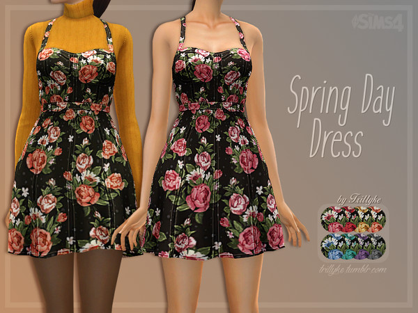 Sims 4 Spring Day Dress by Trillyke at TSR