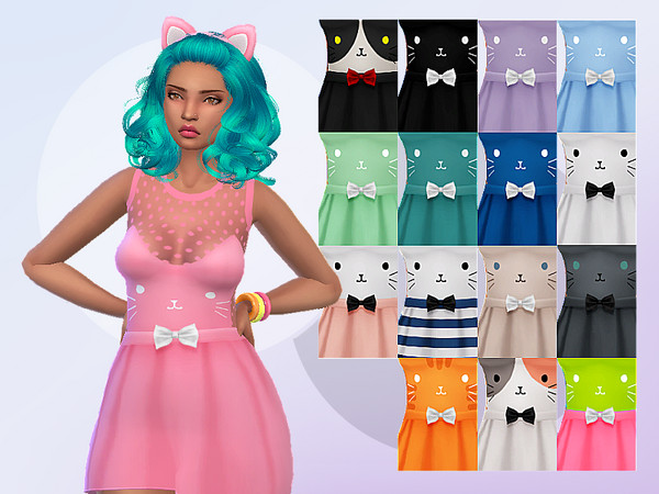 Dress Cat Face by Saruin at TSR image 3104 Sims 4 Updates