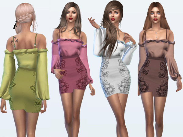 Sims 4 Monica Dress by Sims House at TSR