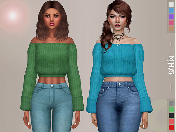 Sims 4 Heidi Sweater by Margeh 75 at TSR