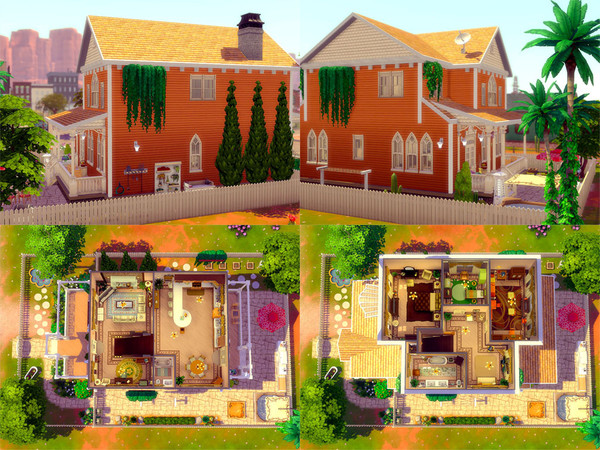 Sims 4 The Orange Tree house by sharon337 at TSR