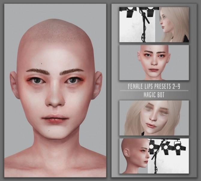 Sims 4 FEMALE LIPS PRESETS #2 9 at Magic bot