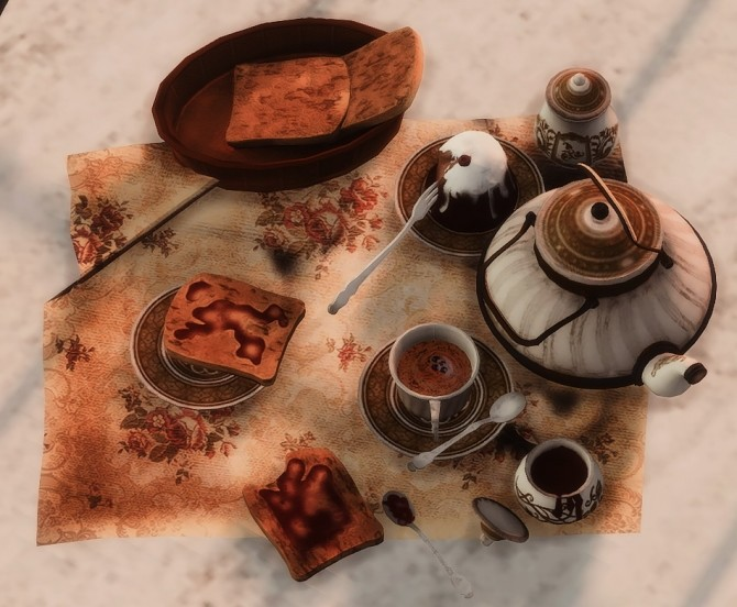 Another Tea Service Set at Josie Simblr image 3181 670x552 Sims 4 Updates