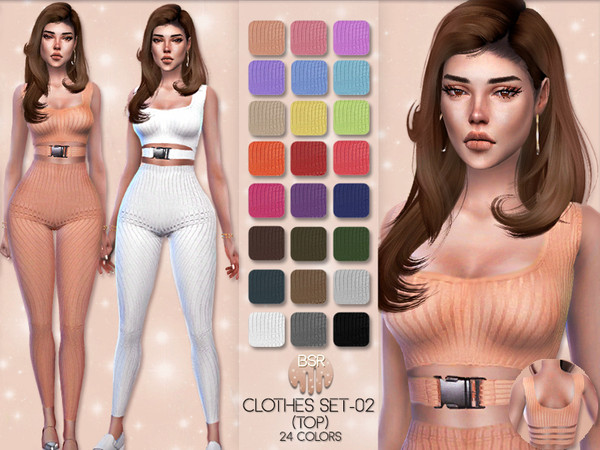 Sims 4 Clothes SET 02 TOP BD27 by busra tr at TSR