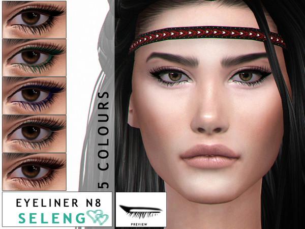 Sims 4 Eyeliner N8 by Seleng at TSR