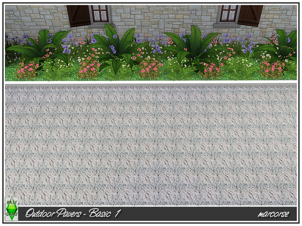 Outdoor Pavers Basic by marcorse at TSR image 350 Sims 4 Updates