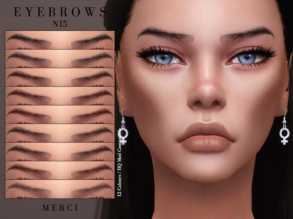 Sims 4 Eyebrows N15 by Merci at TSR
