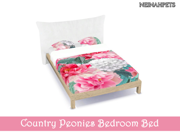 Sims 4 Country Peonies Bedroom by neinahpets at TSR