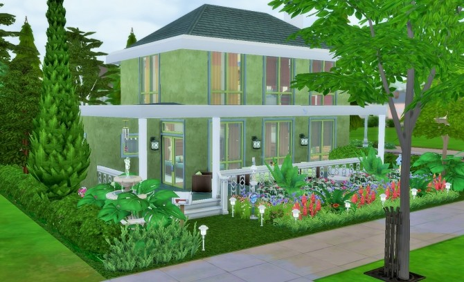 Sims 4 Two story home NO CC by heikeg at Mod The Sims