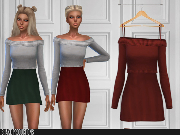 Sims 4 264 Dress by ShakeProductions at TSR