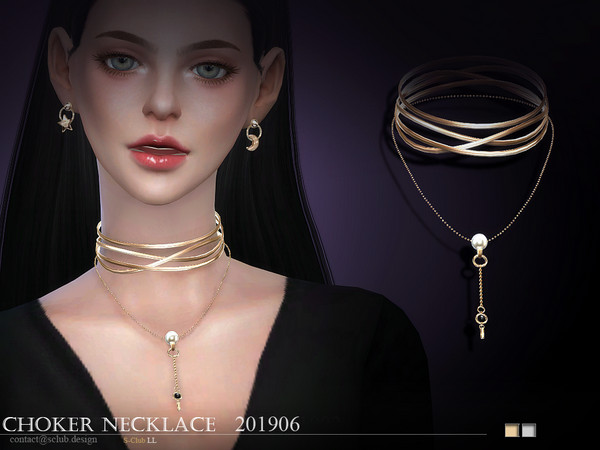 Sims 4 Necklace 201906 by S Club LL at TSR