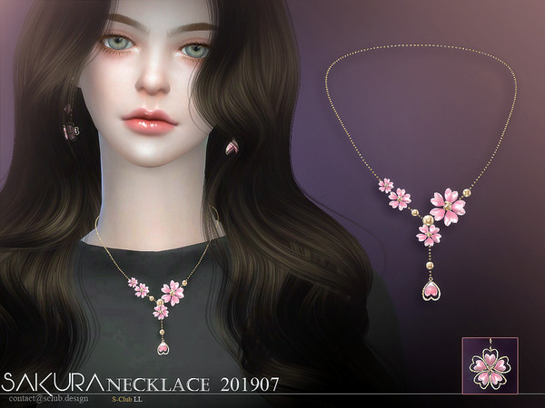 Sims 4 Necklace 201907 by S Club LL at TSR