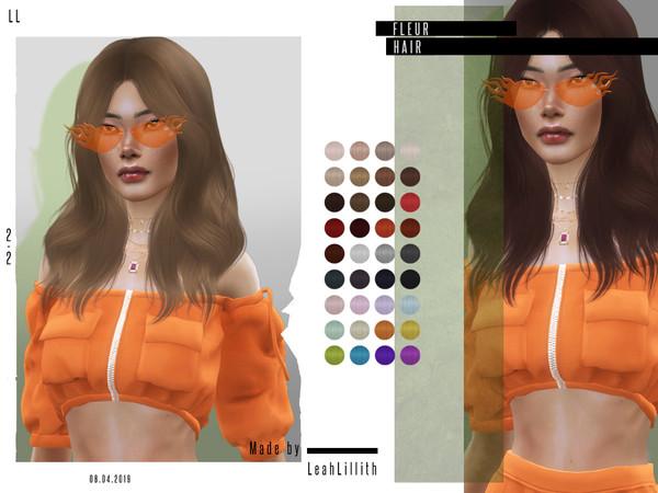 Sims 4 Fleur Hair by Leah Lillith at TSR