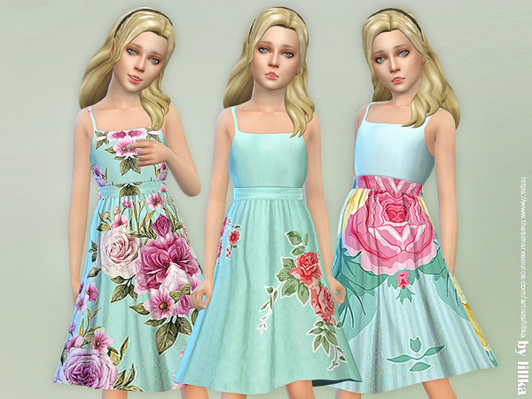 Sims 4 Girls Dresses Collection P123 by lillka at TSR