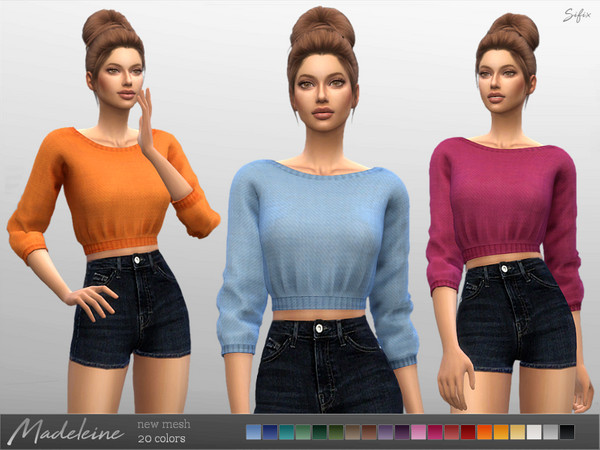 Madeleine Sweater by Sifix at TSR image 4018 Sims 4 Updates