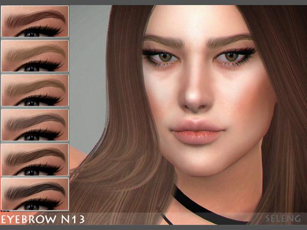 Sims 4 Eyebrows N13 by Seleng at TSR
