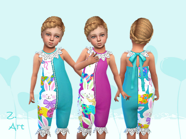 BabeZ 59 outfit with funny bunny print by Zuckerschnute20 at TSR image 409 Sims 4 Updates