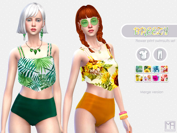 Sims 4 ManueaPinny Breezy swimsuit by nueajaa at TSR