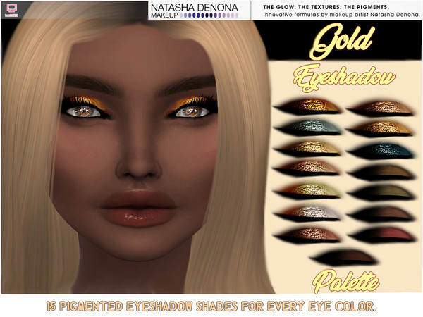 Gold Eyeshadow Palette Set by lucidoll at TSR image 4105 Sims 4 Updates