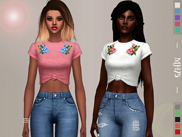 Sims 4 Spring Vibes Top by Margeh 75 at TSR