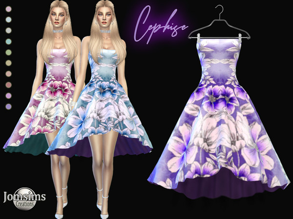 Cephise Dress by jomsims at TSR image 433 Sims 4 Updates