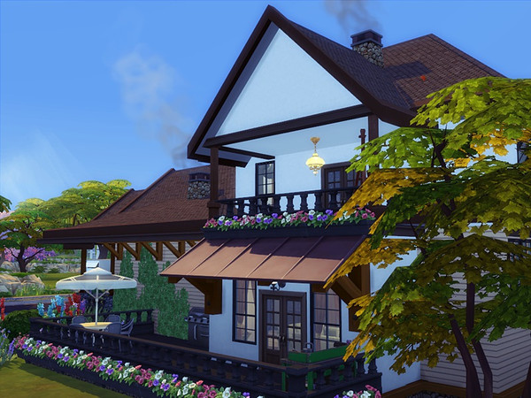 HASANA traditional house by marychabb at TSR image 440 Sims 4 Updates