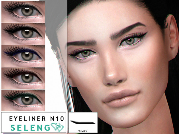 Sims 4 Eyeliner N10 by Seleng at TSR