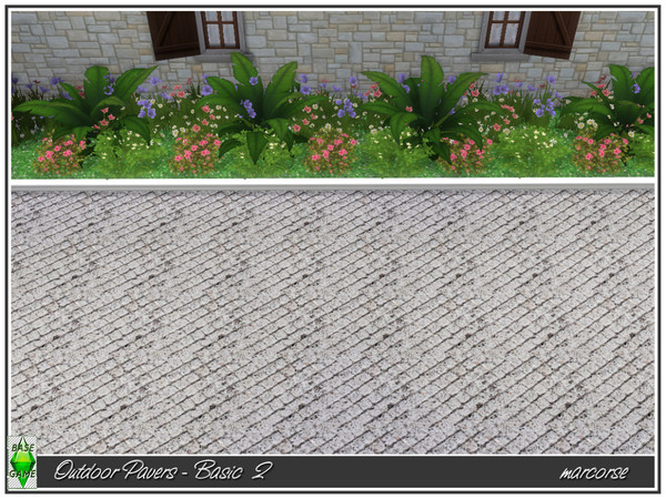 Outdoor Pavers Basic by marcorse at TSR image 450 Sims 4 Updates