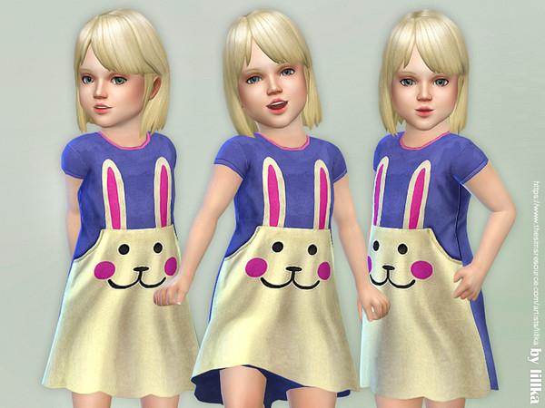 Sims 4 Bunny Pocket Dress by lillka at TSR